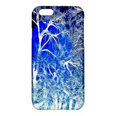 Winter Blue Moon Fractal Forest Background iPhone 6/6S TPU Case