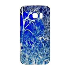 Winter Blue Moon Fractal Forest Background Galaxy S6 Edge