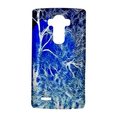 Winter Blue Moon Fractal Forest Background LG G4 Hardshell Case