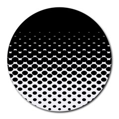Halftone Gradient Pattern Round Mousepads
