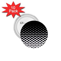 Halftone Gradient Pattern 1 75  Buttons (10 Pack)