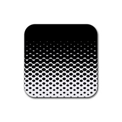 Halftone Gradient Pattern Rubber Square Coaster (4 Pack)
