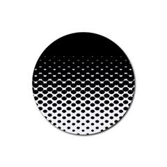 Halftone Gradient Pattern Rubber Round Coaster (4 Pack)