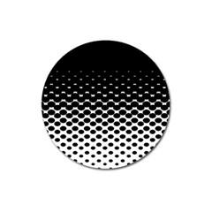 Halftone Gradient Pattern Magnet 3  (Round)