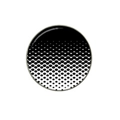 Halftone Gradient Pattern Hat Clip Ball Marker (4 Pack)