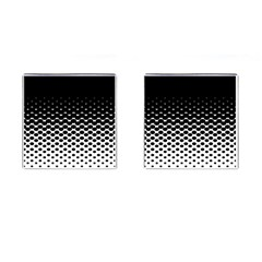 Halftone Gradient Pattern Cufflinks (square)