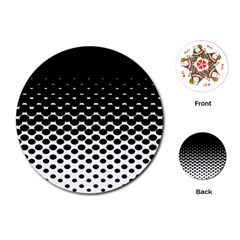 Halftone Gradient Pattern Playing Cards (round)
