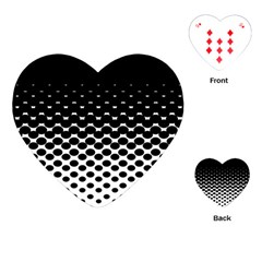 Halftone Gradient Pattern Playing Cards (Heart)