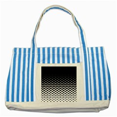 Halftone Gradient Pattern Striped Blue Tote Bag