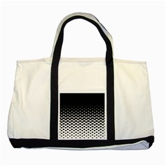 Halftone Gradient Pattern Two Tone Tote Bag