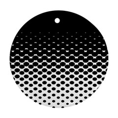 Halftone Gradient Pattern Round Ornament (Two Sides)