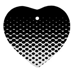 Halftone Gradient Pattern Heart Ornament (two Sides)