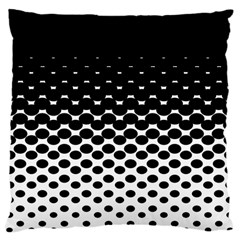 Halftone Gradient Pattern Large Cushion Case (One Side)