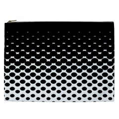 Halftone Gradient Pattern Cosmetic Bag (XXL)