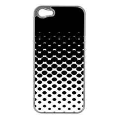 Halftone Gradient Pattern Apple iPhone 5 Case (Silver)