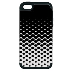 Halftone Gradient Pattern Apple iPhone 5 Hardshell Case (PC+Silicone)