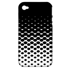 Halftone Gradient Pattern Apple iPhone 4/4S Hardshell Case (PC+Silicone)