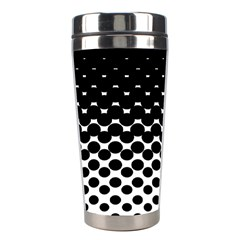 Halftone Gradient Pattern Stainless Steel Travel Tumblers