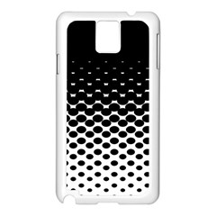 Halftone Gradient Pattern Samsung Galaxy Note 3 N9005 Case (White)