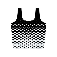 Halftone Gradient Pattern Full Print Recycle Bags (S)