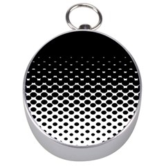 Halftone Gradient Pattern Silver Compasses