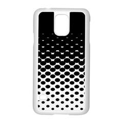 Halftone Gradient Pattern Samsung Galaxy S5 Case (white)