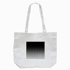 Halftone Gradient Pattern Tote Bag (White)