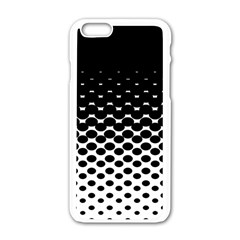 Halftone Gradient Pattern Apple iPhone 6/6S White Enamel Case