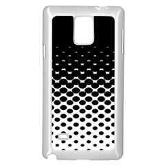 Halftone Gradient Pattern Samsung Galaxy Note 4 Case (White)
