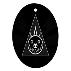 Abstract Pigs Triangle Ornament (oval)