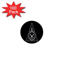 Abstract Pigs Triangle 1  Mini Buttons (100 Pack)