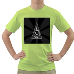 Abstract Pigs Triangle Green T-Shirt