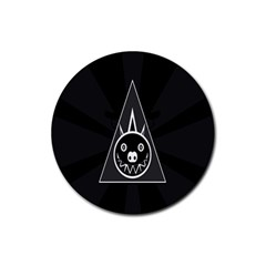 Abstract Pigs Triangle Rubber Round Coaster (4 Pack)