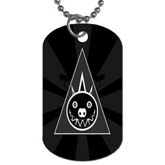Abstract Pigs Triangle Dog Tag (two Sides)