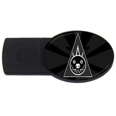 Abstract Pigs Triangle USB Flash Drive Oval (1 GB)