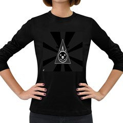 Abstract Pigs Triangle Women s Long Sleeve Dark T Shirts