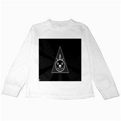 Abstract Pigs Triangle Kids Long Sleeve T Shirts