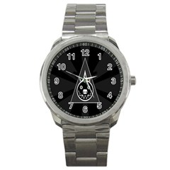 Abstract Pigs Triangle Sport Metal Watch
