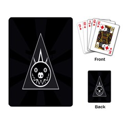 Abstract Pigs Triangle Playing Card