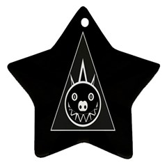 Abstract Pigs Triangle Star Ornament (two Sides)