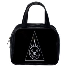 Abstract Pigs Triangle Classic Handbags (One Side)