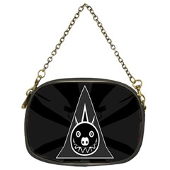 Abstract Pigs Triangle Chain Purses (two Sides)