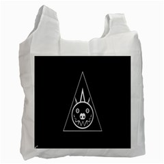 Abstract Pigs Triangle Recycle Bag (One Side)