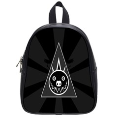 Abstract Pigs Triangle School Bags (small)