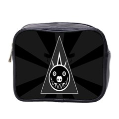 Abstract Pigs Triangle Mini Toiletries Bag 2 Side