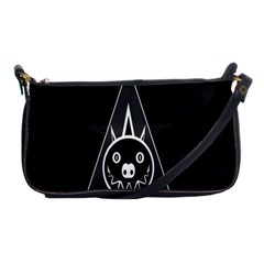 Abstract Pigs Triangle Shoulder Clutch Bags