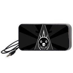 Abstract Pigs Triangle Portable Speaker (Black)