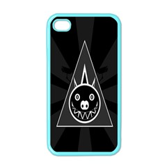 Abstract Pigs Triangle Apple Iphone 4 Case (color)