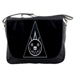 Abstract Pigs Triangle Messenger Bags