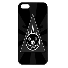Abstract Pigs Triangle Apple iPhone 5 Seamless Case (Black)